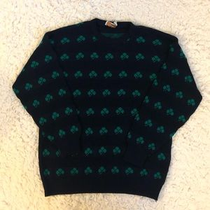 St. Patrick's Day four leaf clover ugly sweater